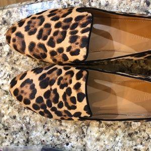 J Crew leopard Flats